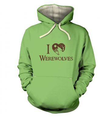 I Heart Werewolves  hoodie (premium)