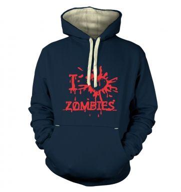I heart Zombies  hoodie (premium)