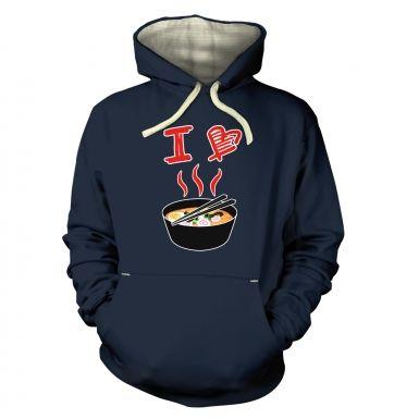 I Love Ramen hoodie (premium)