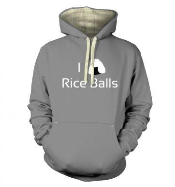 I Love Rice Balls! Japanese hoodie (premium)