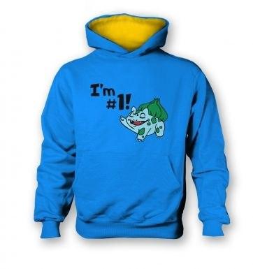 Im #1! kids hoodie (contrast)
