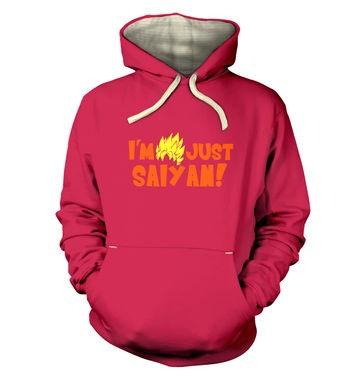 I'm Just Saiyan premium hoodie