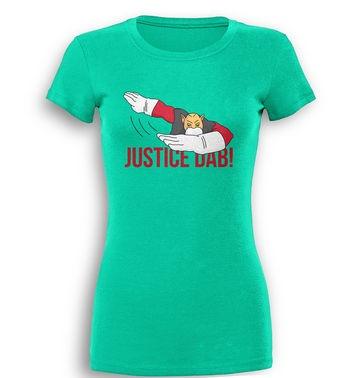 Justice Dab premium womens t-shirt