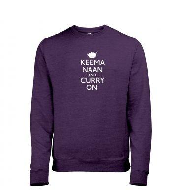 Keema Naan And Curry On heather sweatshirt
