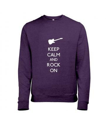 Keep Calm and Rock On heather sweatshirt