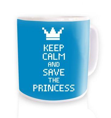 Keep Calm And Save The Princess (blue)  mug