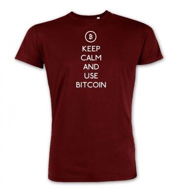 Keep Calm and use bitcoin premium t-shirt