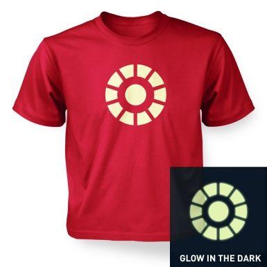 Arc Reactor (glow in the dark) kids' t-shirt
