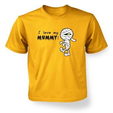 I Love My Mummy kids t-shirt