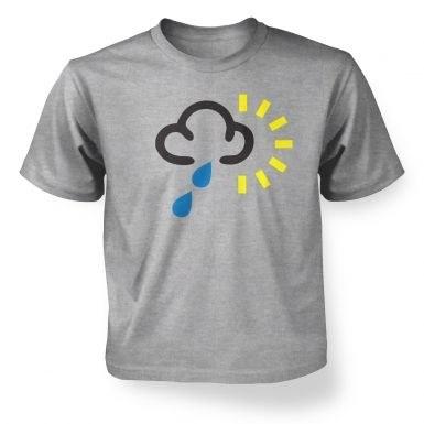 Weather Symbol Heavy Rain with Sun kids' t-shirt