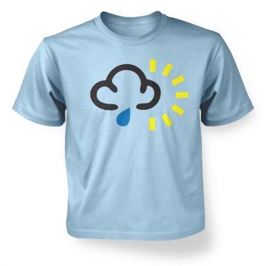 Weather Symbol Rain with Sun kids t-shirt