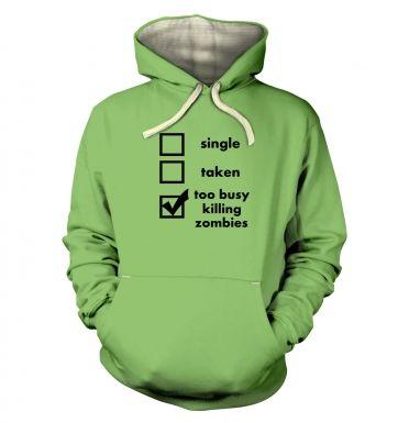 Killing Zombies hoodie (premium)