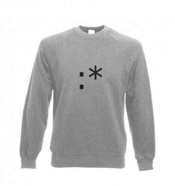 Kiss Emoticon sweatshirt