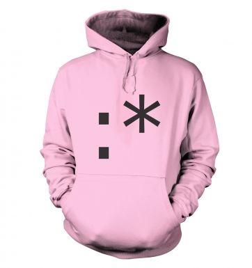 Kiss Emoticon hoodie