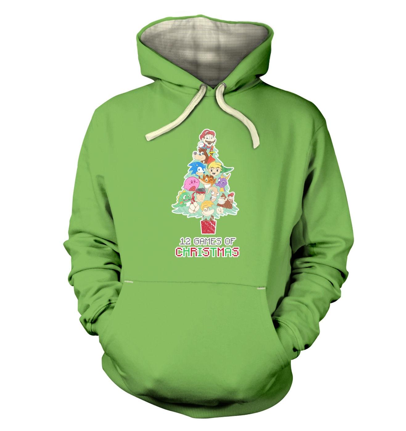 12 Games Of Christmas premium hoodie by Something Geeky
