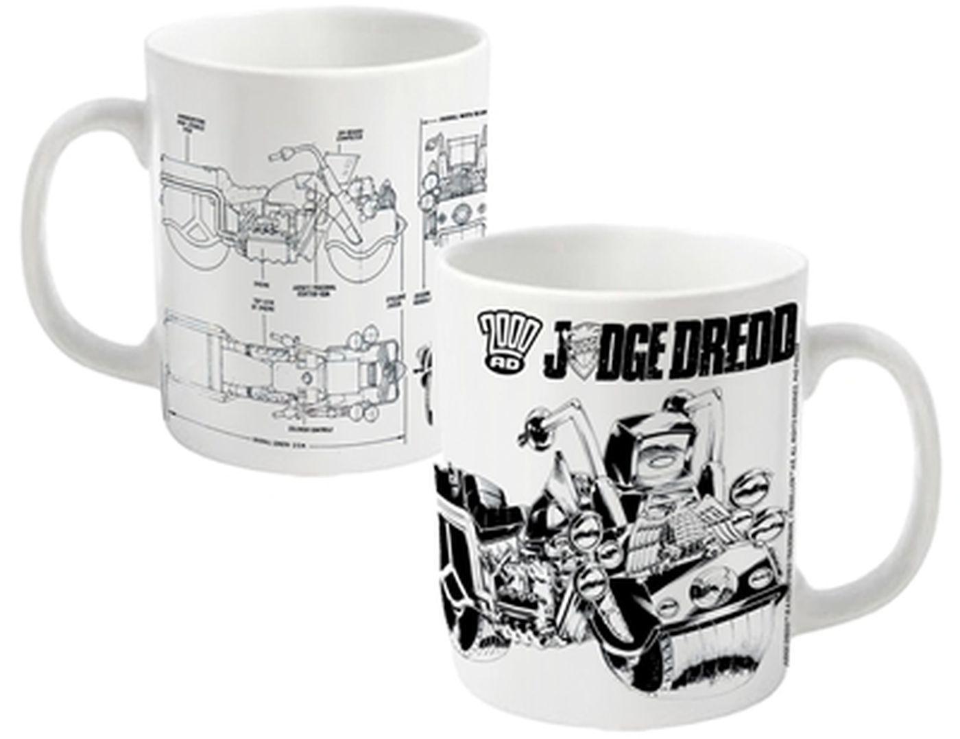 2000AD Judge Dredd Bike Schematics mug - Official - Something Geeky