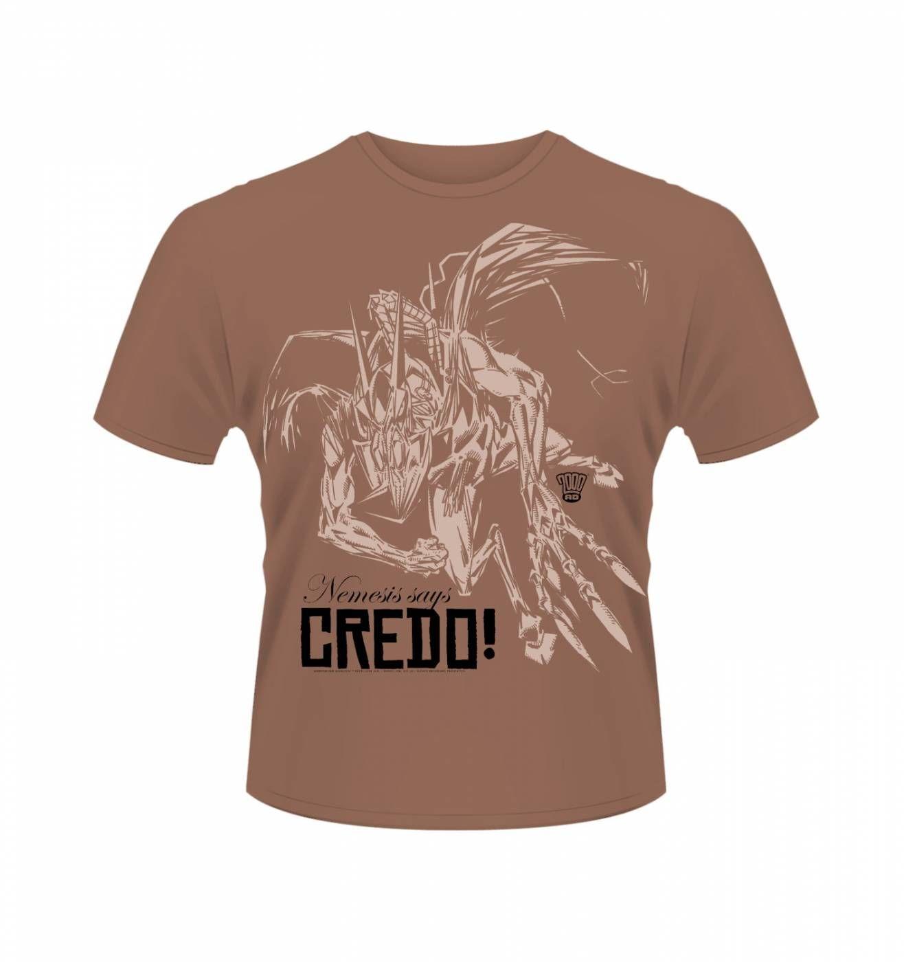 OFFICIAL 2000AD Nemesis The Warlock Credo t-shirt