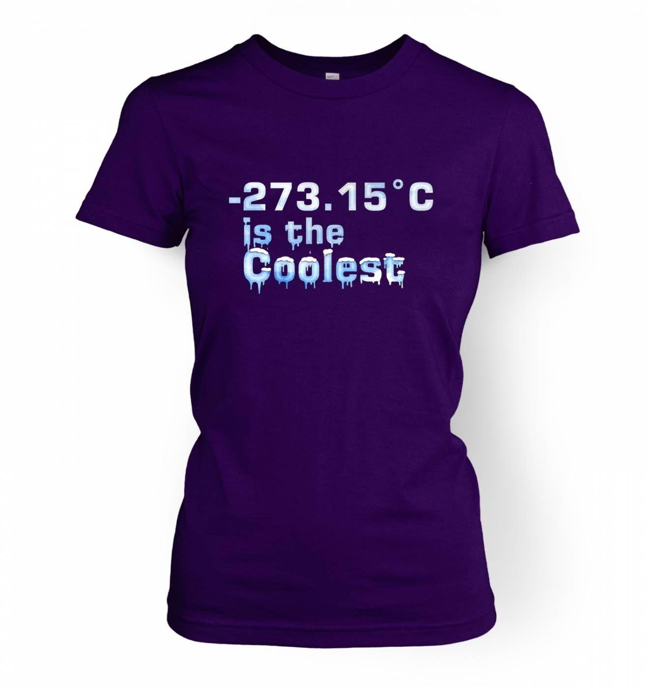 -273.15°C Is The Coolest women's t-shirt