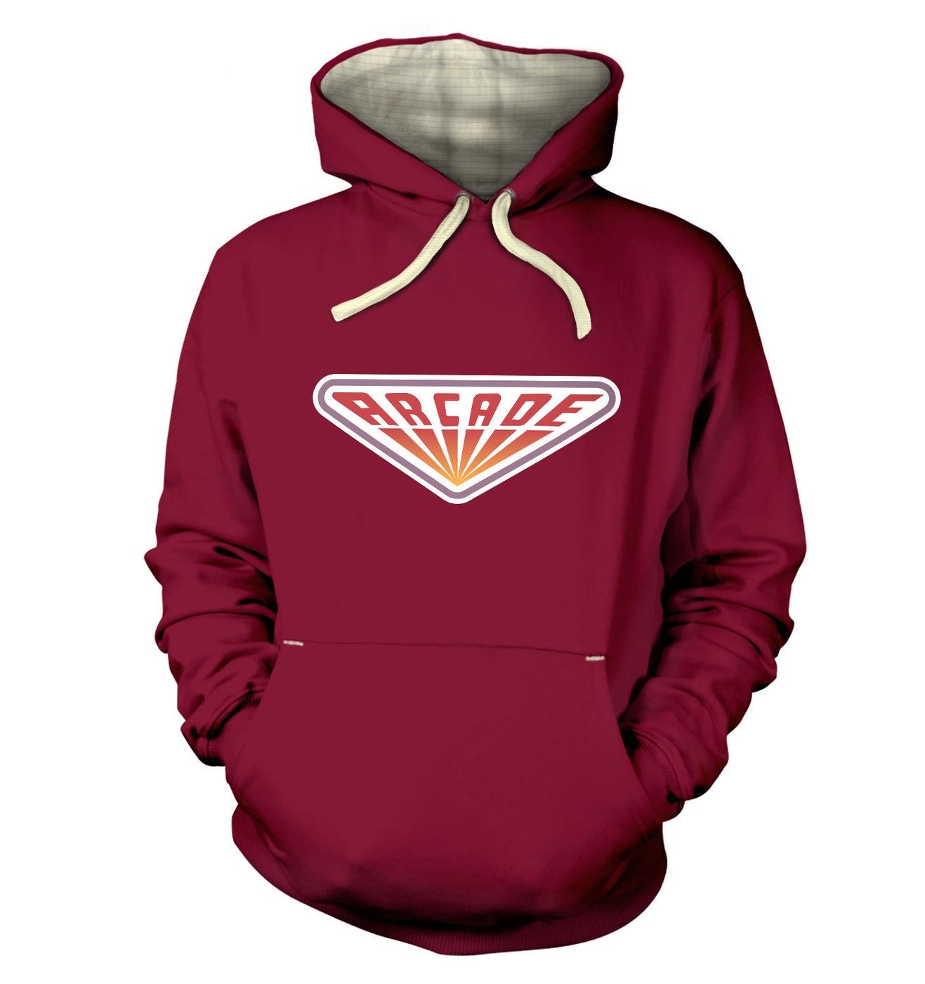 80s Arcade Sign premium hoodie by Something Geeky