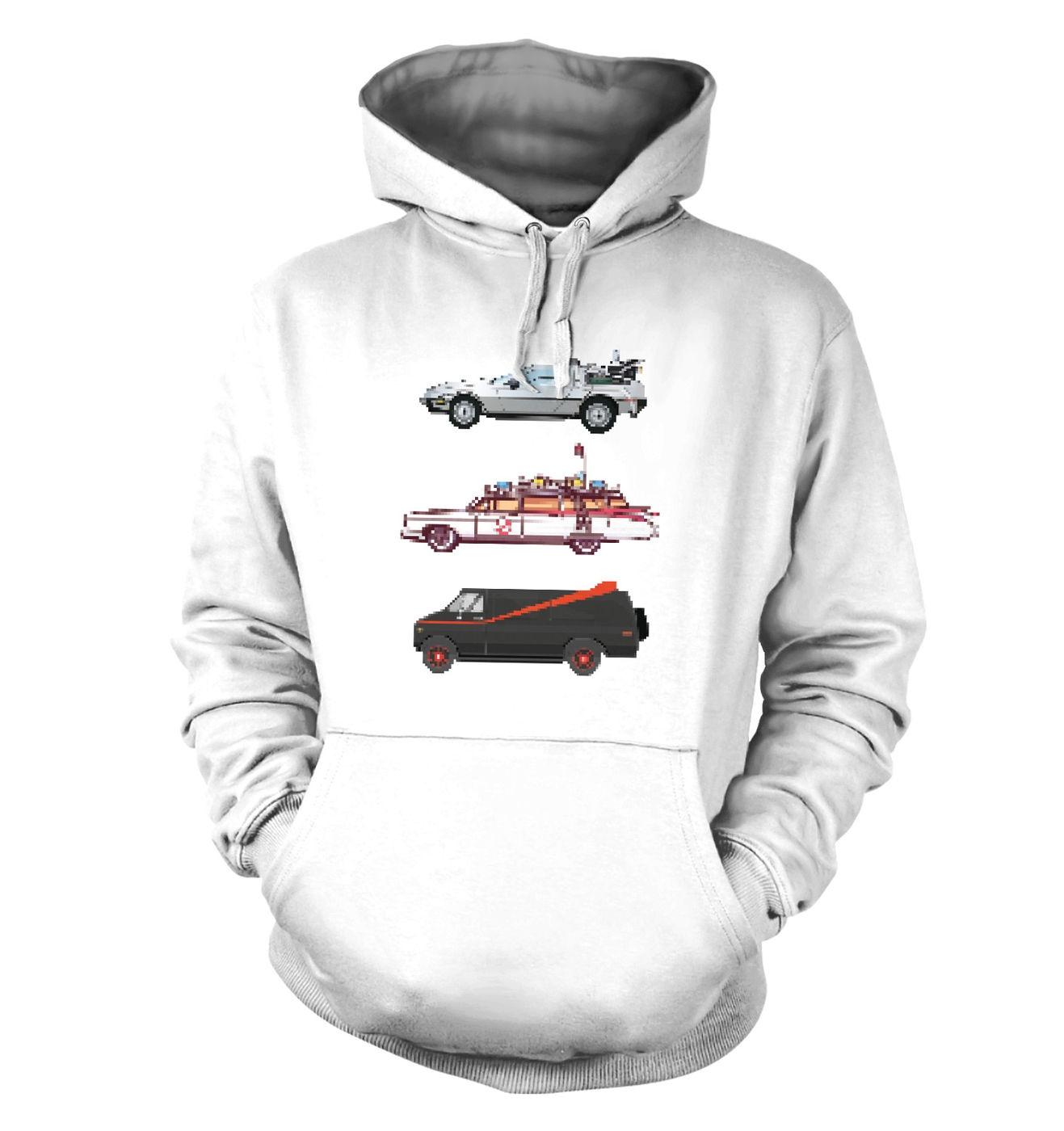 80s Pixel Cars hoodie by Something Geeky