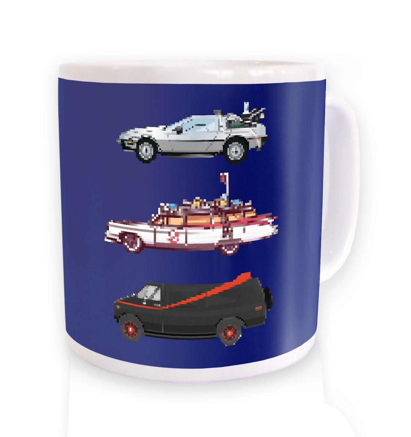 80s Pixel Cars mug by Something Geeky