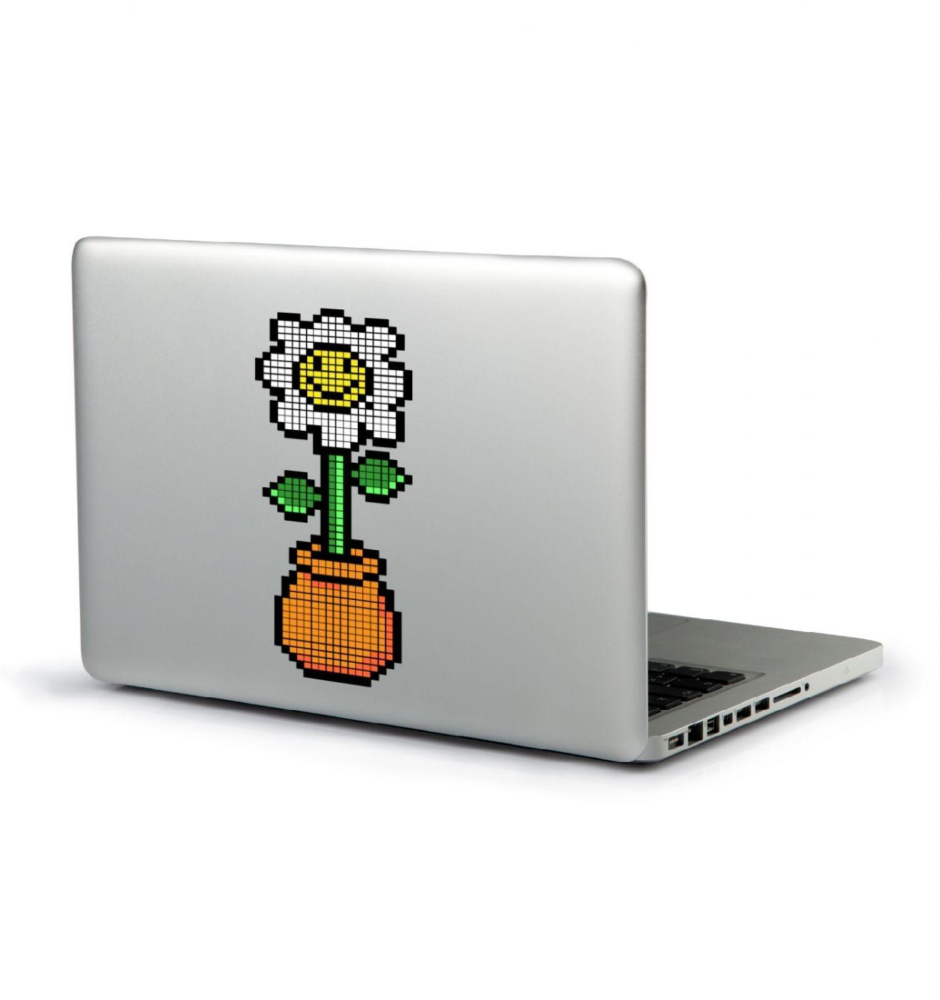 8-bit Daisy laptop sticker