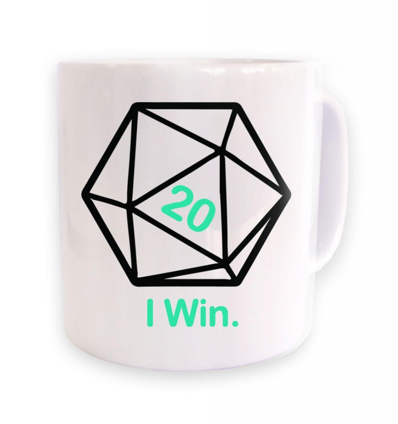 D20 I Win mug