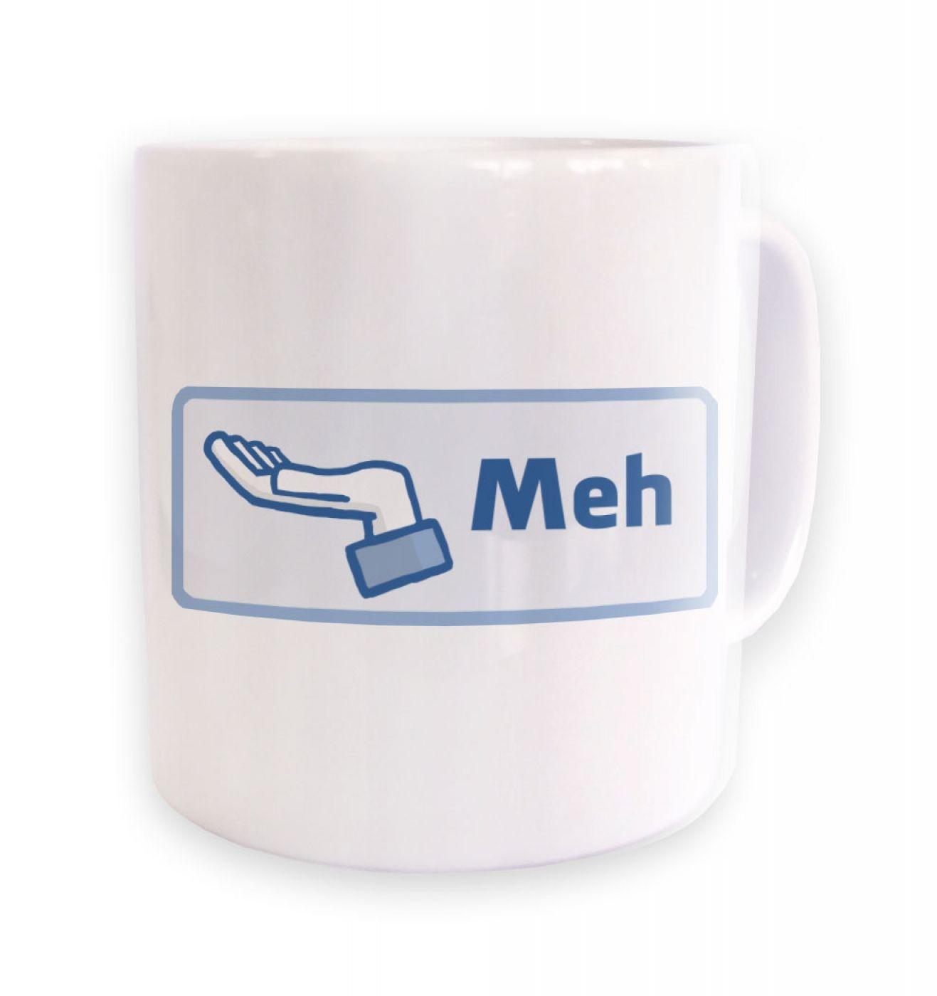 Meh Button mug