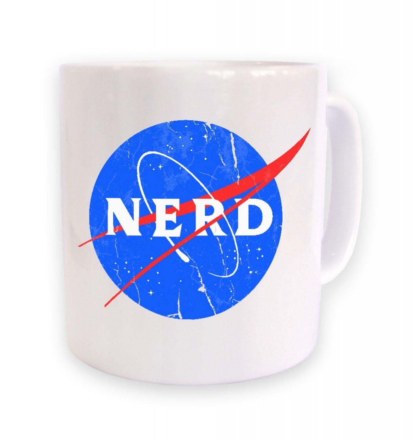 Nerd NASA logo mug