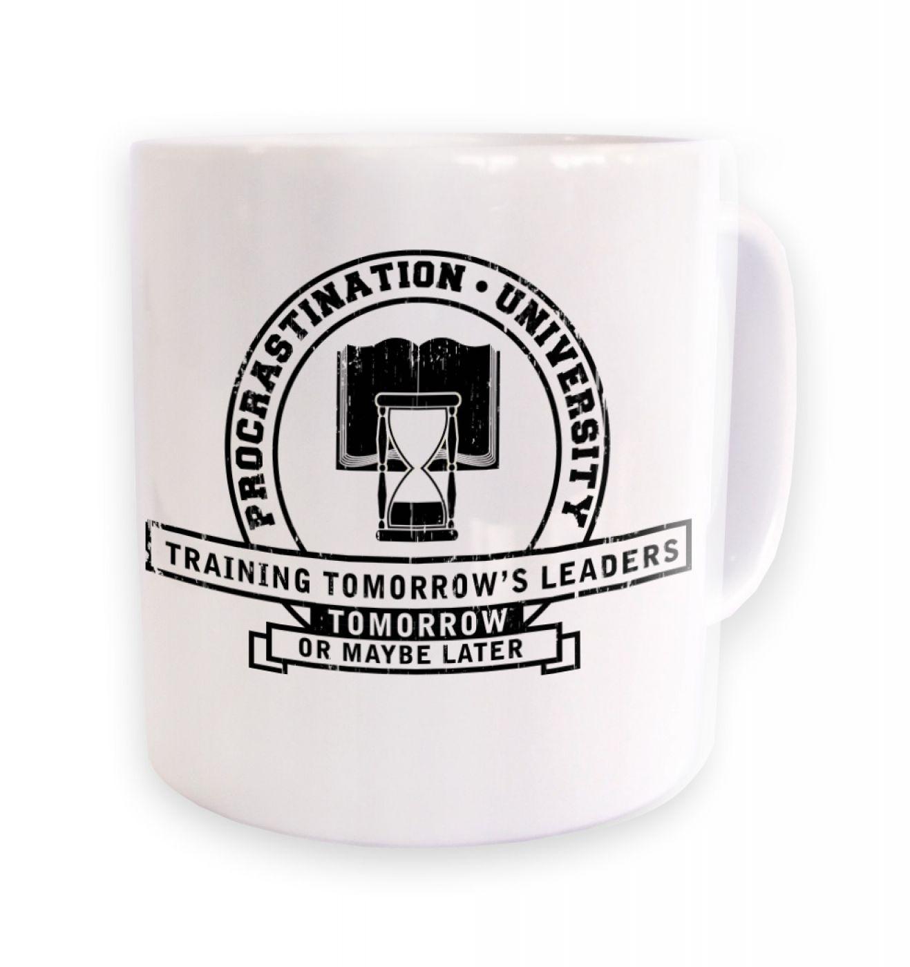 Procrastination University mug
