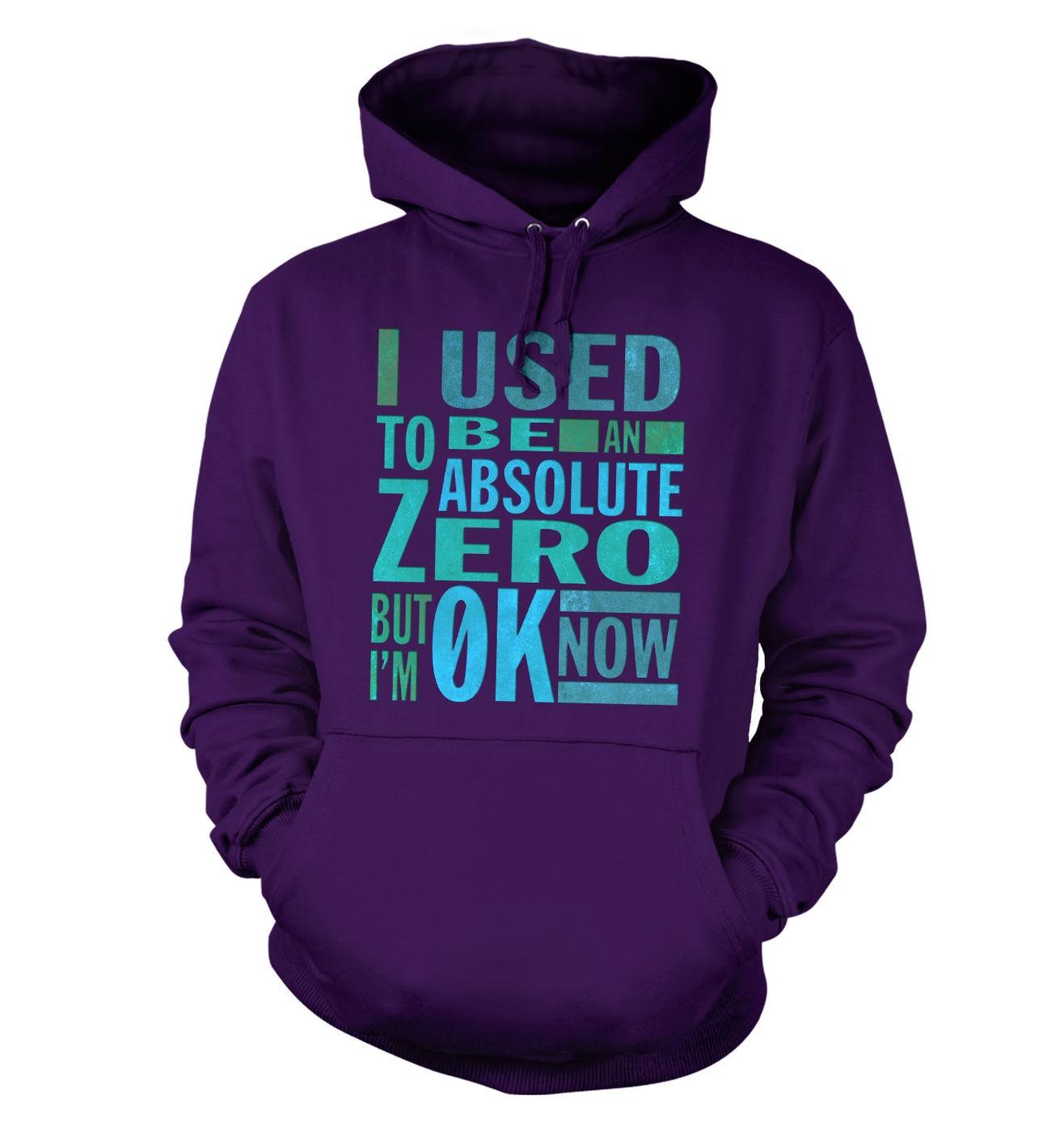 Absolute Zero 0K Now hoodie - funny science slogan hoody
