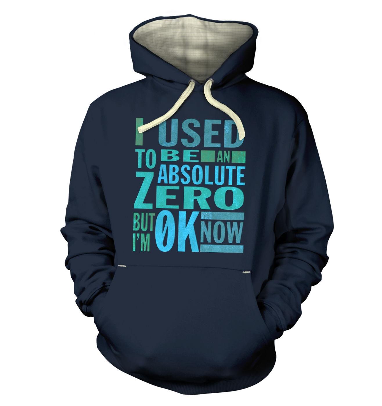 Absolute Zero 0K Now premium hoodie - cosy funny science slogan hoody