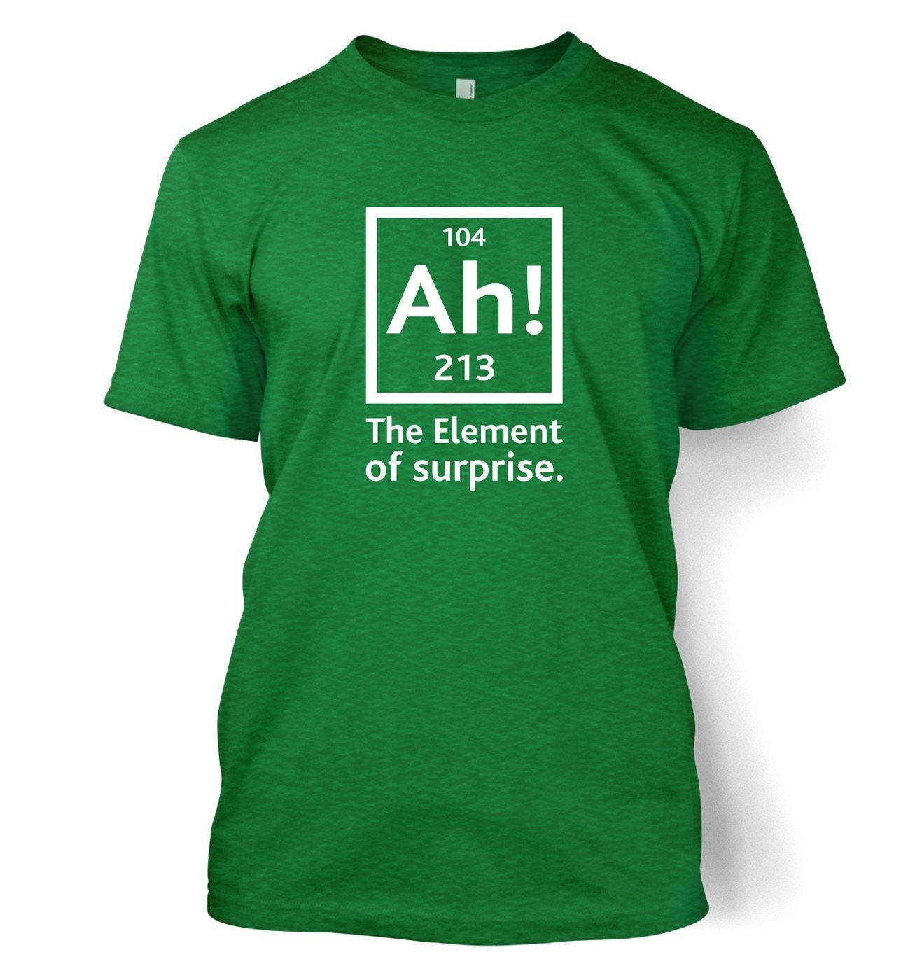 Ah! The Element Of Surprise men's t-shirt