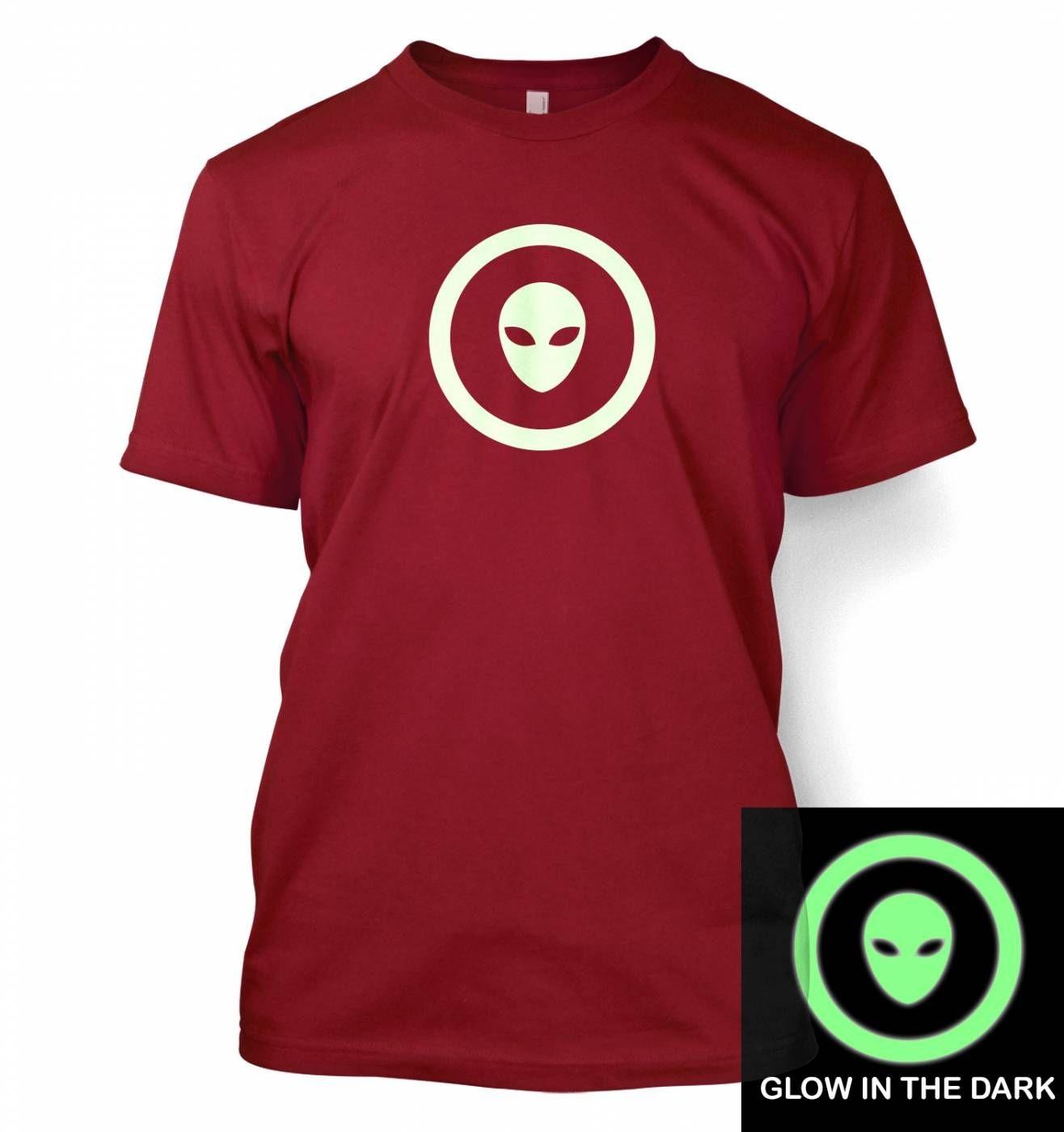 Alien Head In Circle (glow in the dark) t-shirt