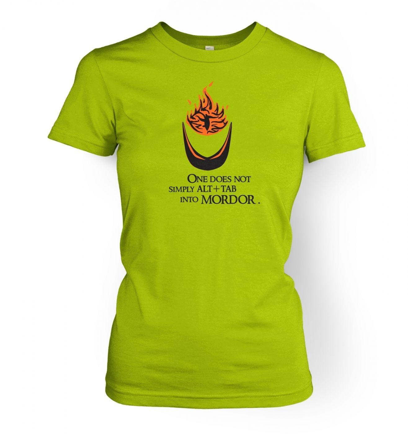 Women's Alt+tab into Mordor t-shirt