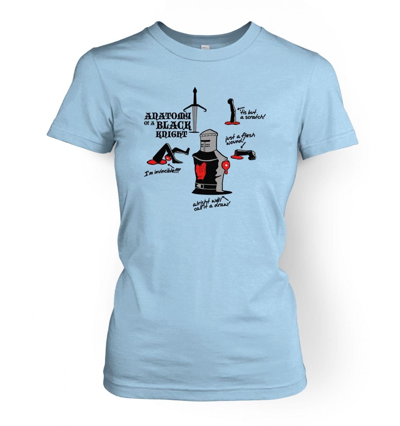 Anatomy of a Black Knight womens t-shirt - Somethinggeeky