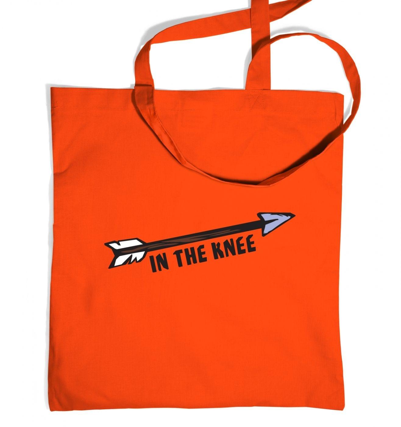 Cartoon Arrow In The Knee tote bag