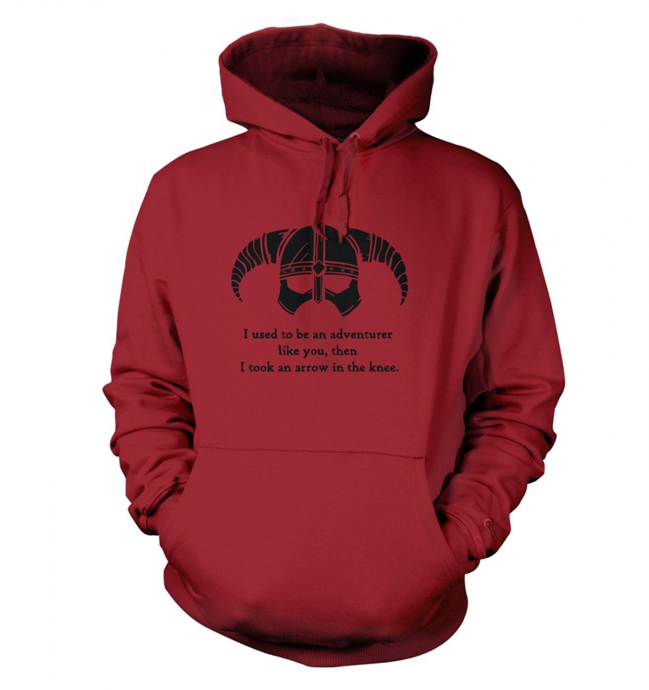 Arrow In The Knee (black detail) hoodie
