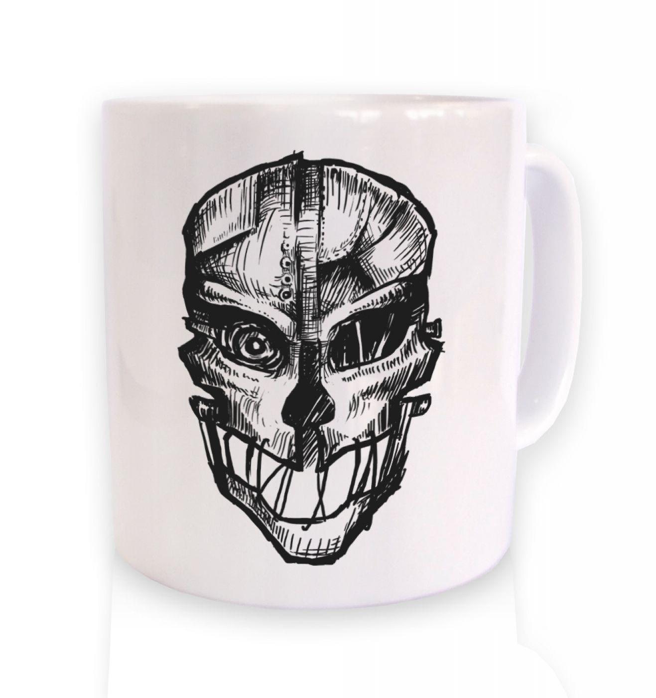 Assassin's Mask ceramic coffee mug