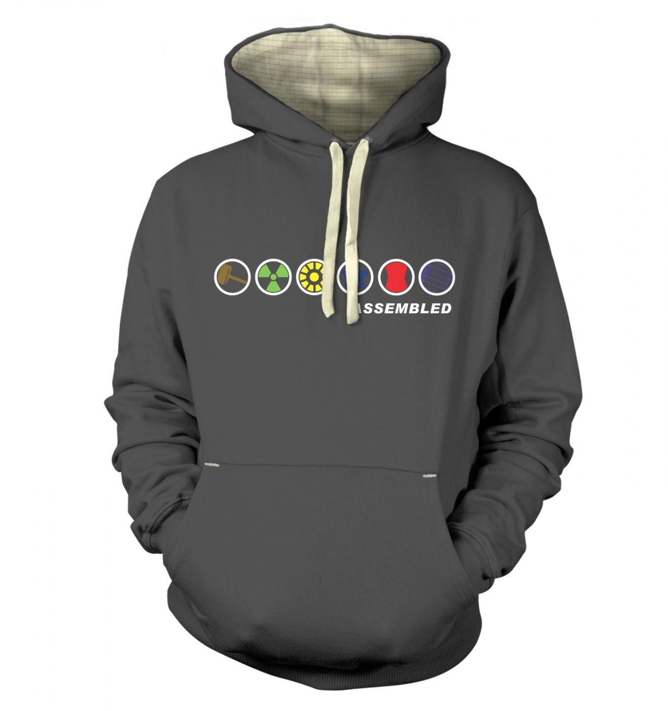 Assembled In A Row hoodie (premium)