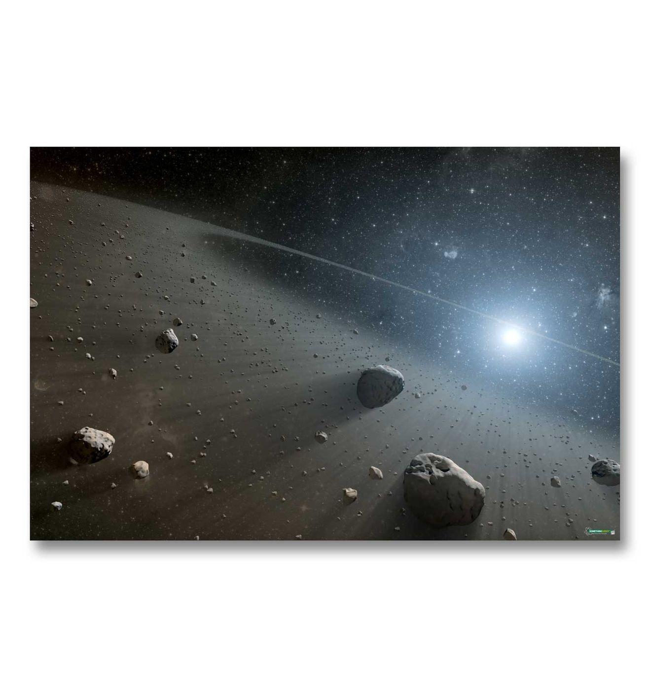Asteroid Belt gaming mat - Stunning high res space battle mat