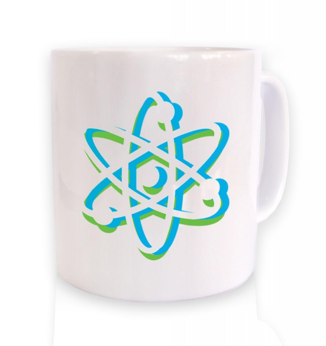 Atom ceramic coffee mug