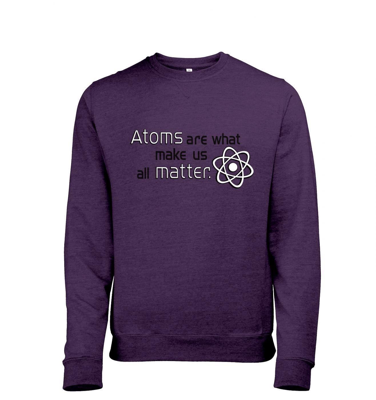 Atoms matter Mens Heather Sweatshirt