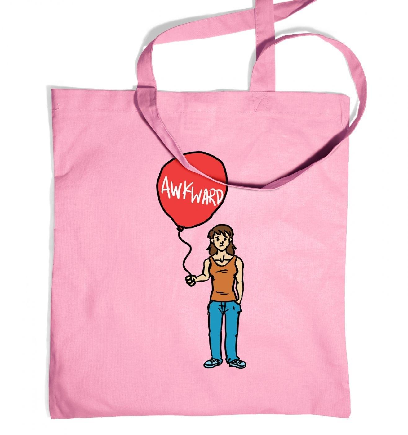 Awkward Balloon Girl tote bag