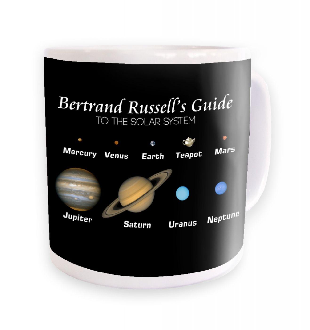 Bertrand Russell's Guide mug- black background