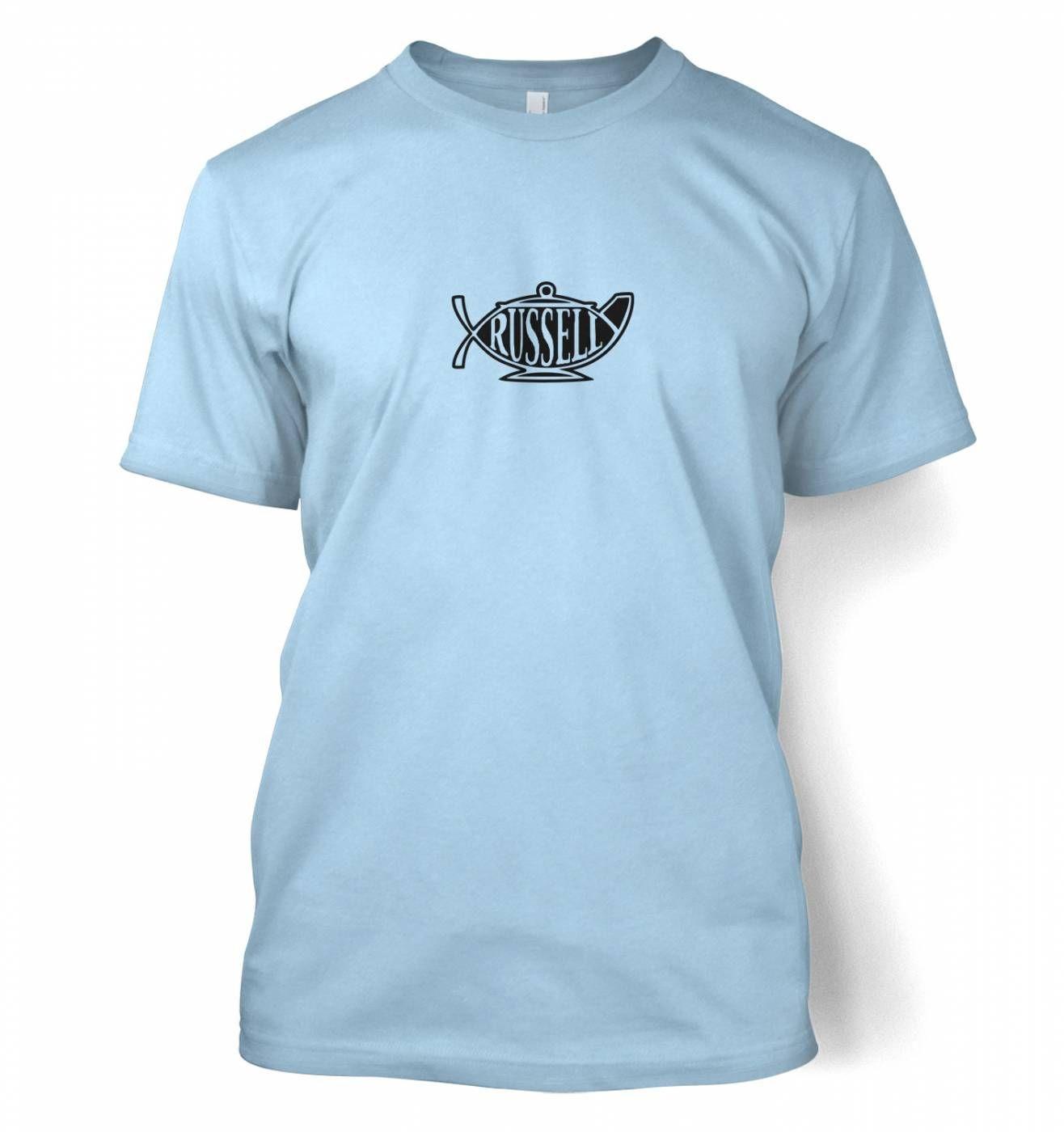 Bertrand Russell Teapot Ichthys t-shirt