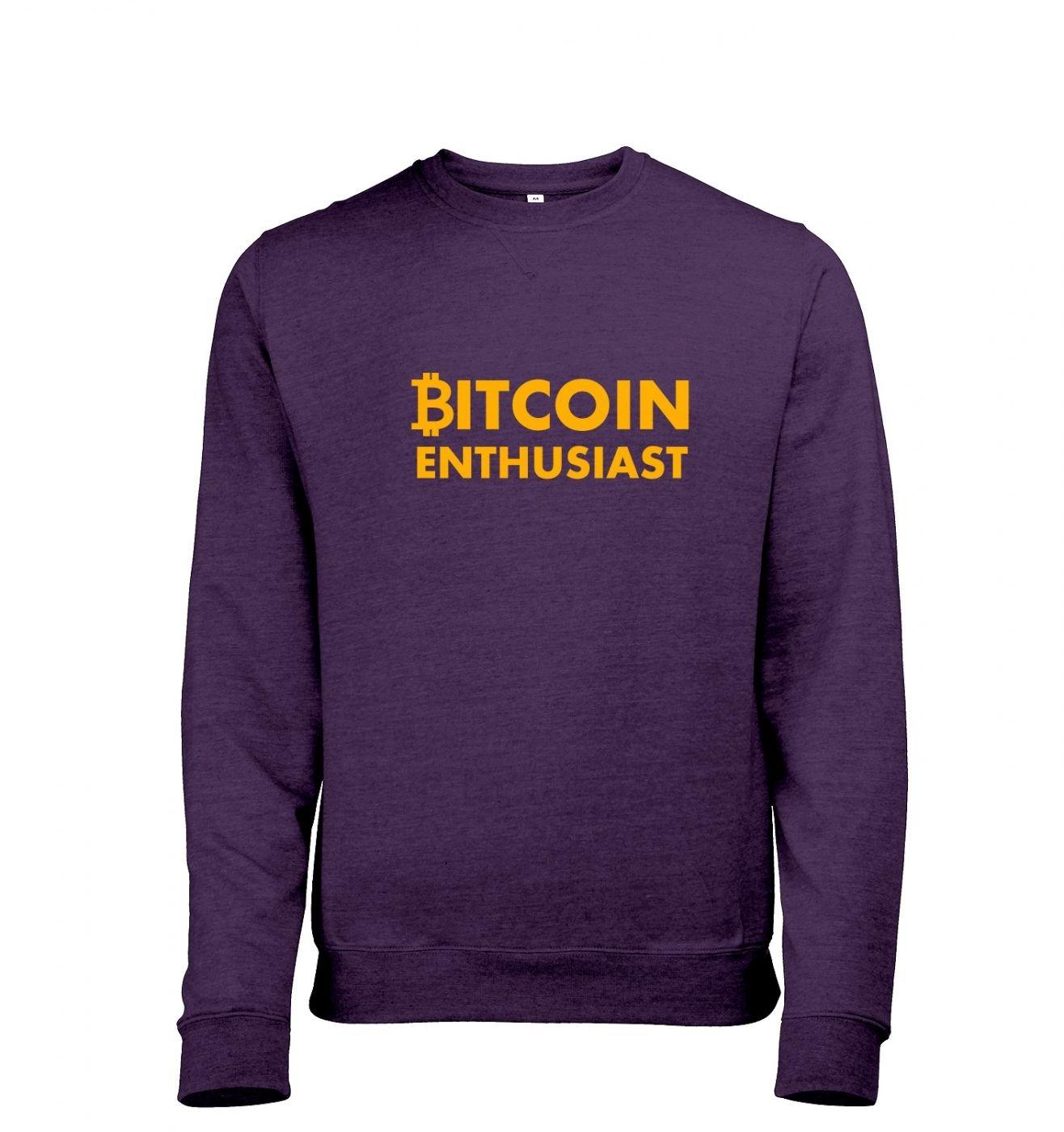 Bitcoin Enthusiast Mens Heather Sweatshirt