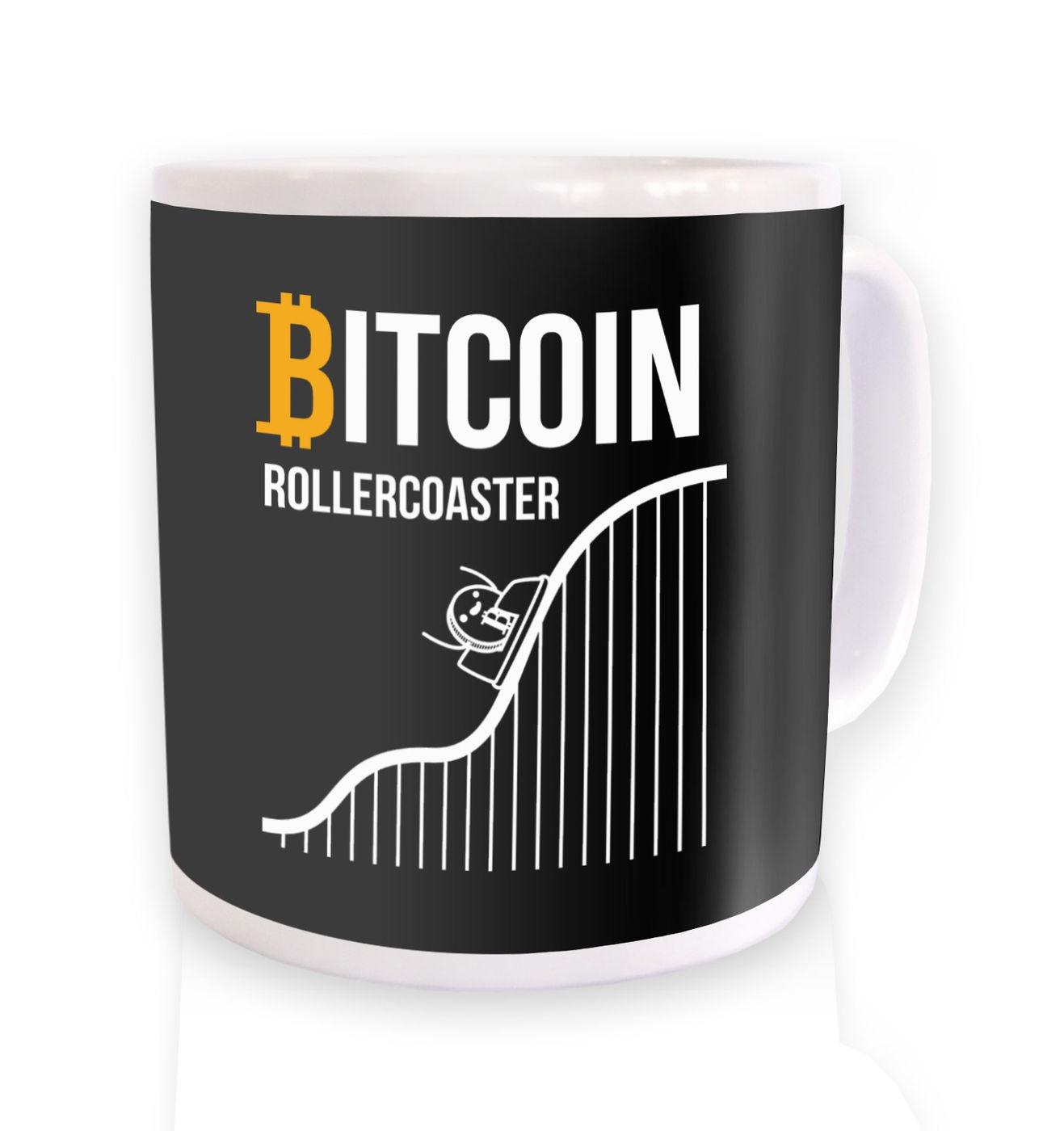 Bitcoin Rollercoaster mug by Something Geeky