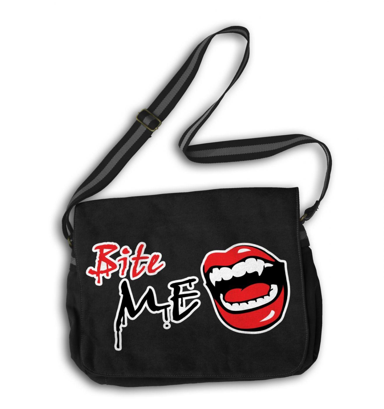 Bite Me messenger bag - vampire school bag