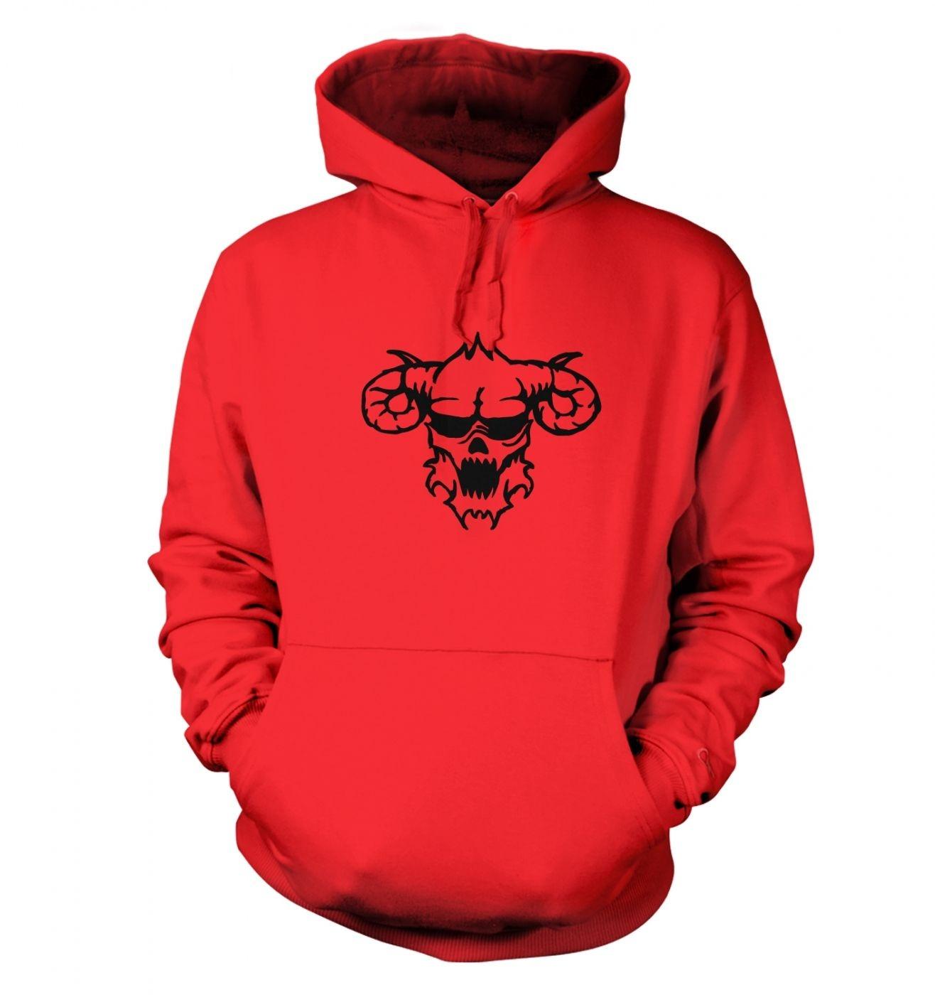Black Outline Demon's Head hoodie